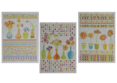Набор льняных полотенец Spring flowers