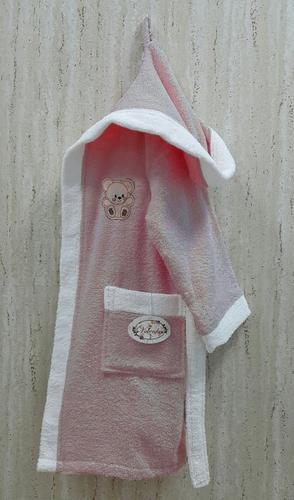 Детский банный халат Volenka Мишка Dark Pink 6-8 лет