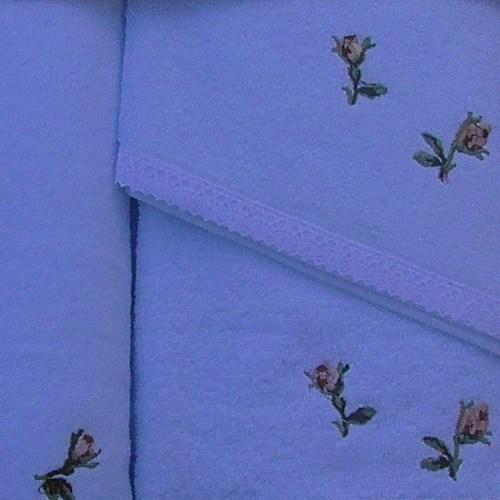Набор полотенец Korona Style Сати голубой