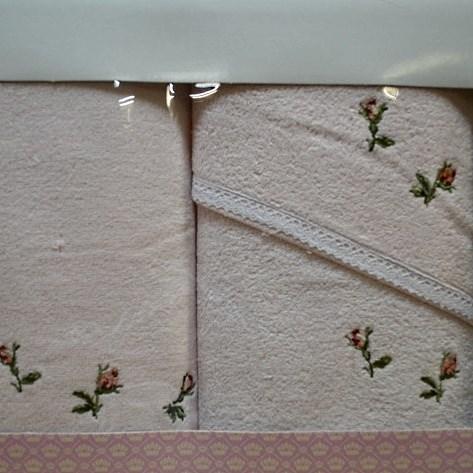Набор полотенец Korona Style Сати розовый