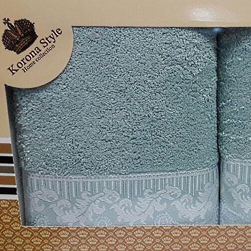 Набор полотенец Korona Style Линда морская волна