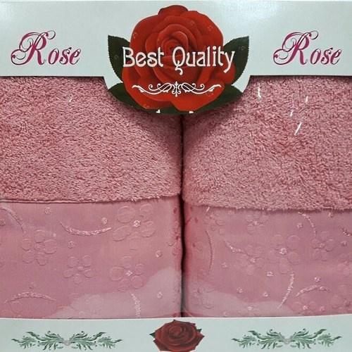 Набор полотенец Korona Style Диана темно-розовый