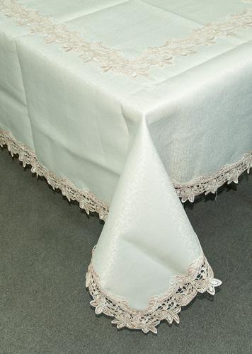 Скатерть с вышивкой Решелье Cream