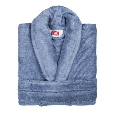 Махровый халат MAISON BAMBU синий
