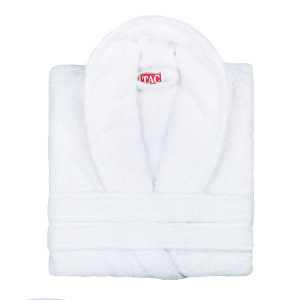 Махровый халат MAISON BAMBU белый