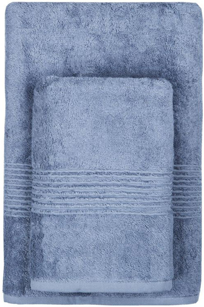 Махровое полотенце 70х140 MAISON BAMBU синий
