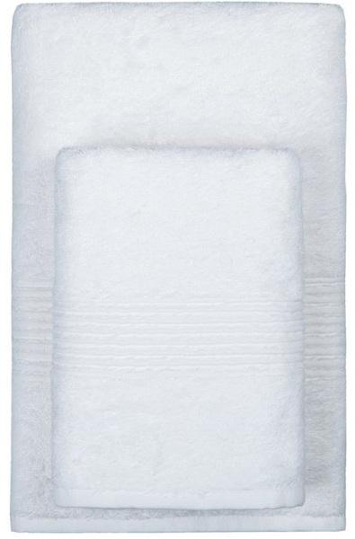 Махровое полотенце 50х90 MAISON BAMBU белый