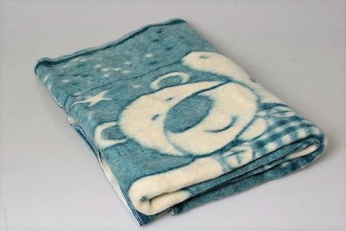 Детский плед-одеяло 100х140 Valtery бирюза