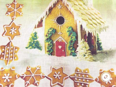 Новогоднее полотенце Прянички 50х70 см