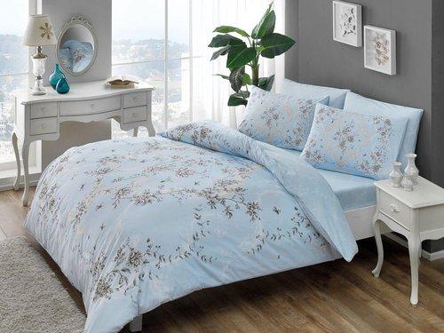 Постельное белье RANFORCE 2 Beatrice V03-mavi, голубой