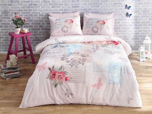 Постельное белье RANFORCE 2 Selena V01-pembe, розовый