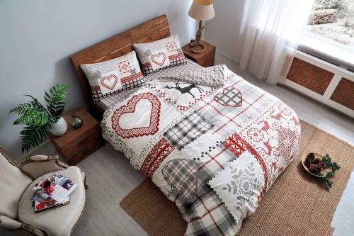 Постельное белье Savina красный двуспальный