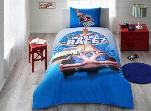 Детское постельное белье Hot wheels race