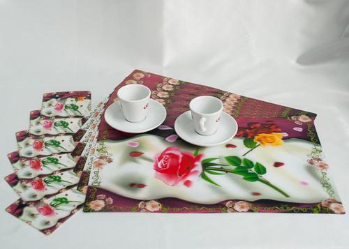 Набор салфеток с подстаканниками Tango Flowers V2