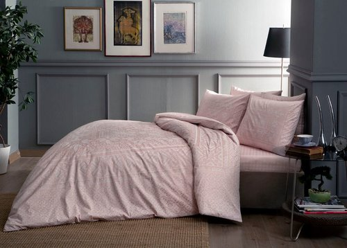 Постельное белье SATIN 2 Fabian V52-pembe, розовый