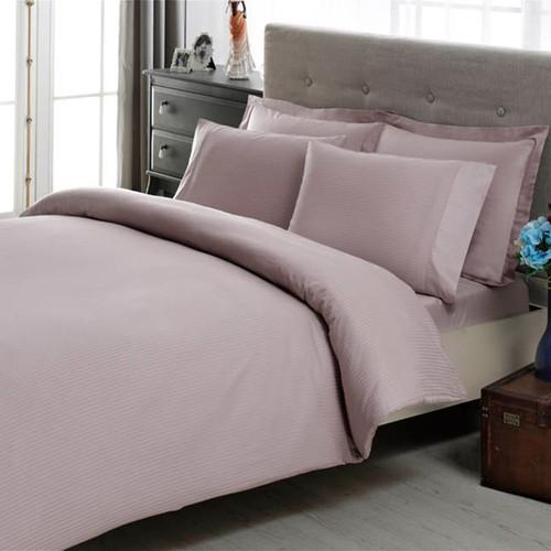 Постельное белье PREMIUM BASIC Stripe king-lila, лиловый