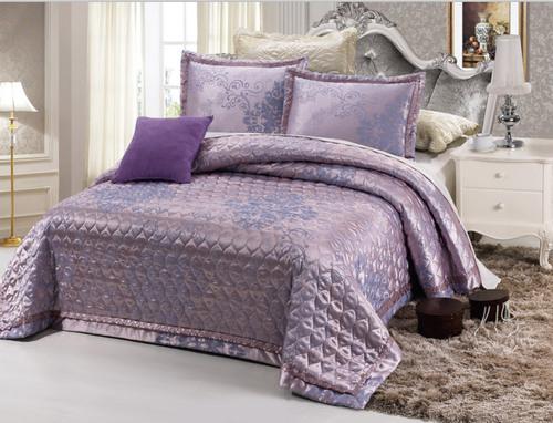 Покрывало с наволочками Jacquard темно-фиолетовый