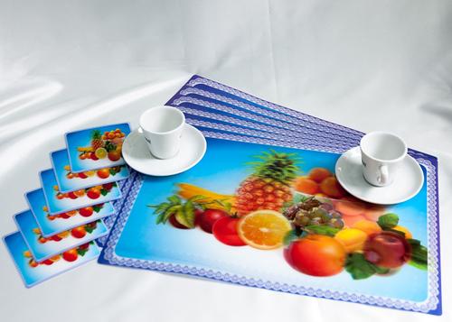 Набор салфеток с подстаканниками Tango Fruits V4