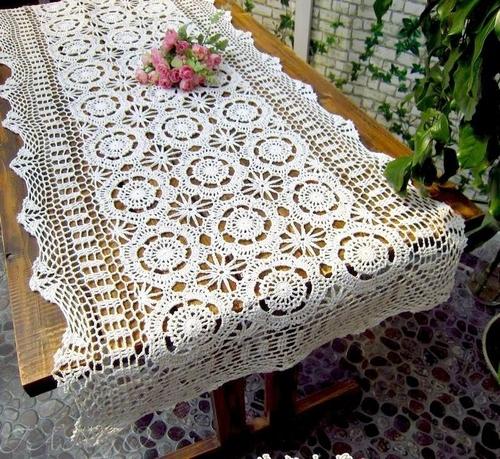 Скатерть кружевная 40х180 Tango White