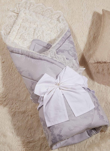 Одеяло-конверт Бамбини Кружево (лаванда)