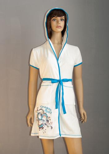 Женский халат VS Dragon White