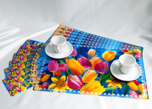 Набор салфеток с подстаканниками Tango Flowers V3
