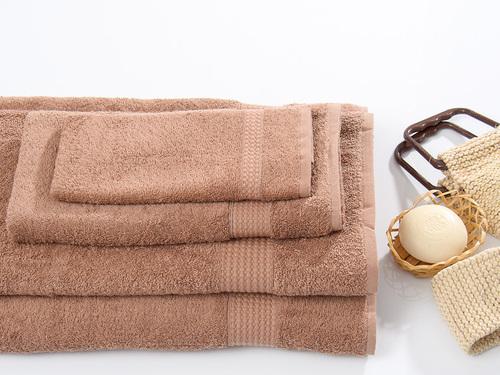 Полотенце махровое TOUCHSOFT, темно-коричневый