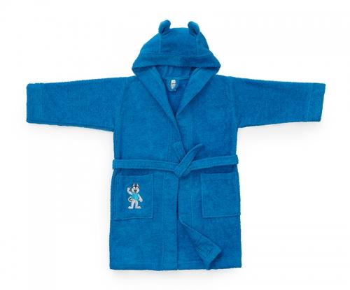 Детский халат Universiade Талисман синий 6-8 лет