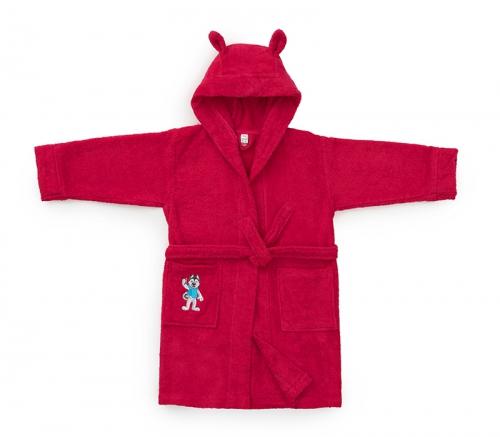 Детский халат Universiade Талисман фуксия 6-8 лет