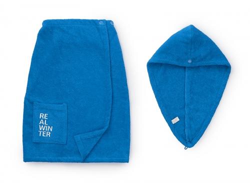Набор для сауны Universiade Logo Real Winter синий