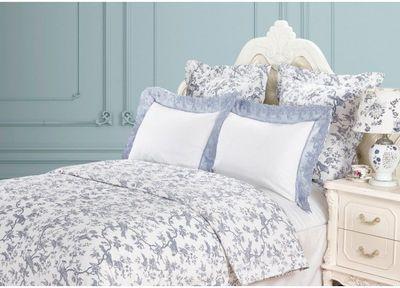 Постельное белье VF Найда (бело-серый) 1.5 спальный