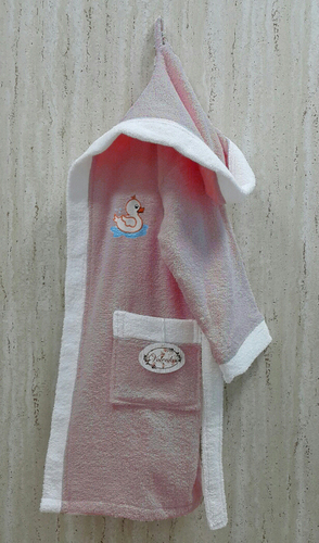 Детский банный халат Volenka Утёнок Dark Pink 2-4 года