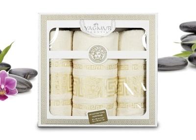 Набор из 3-х полотенец Tango Yagmur Cream