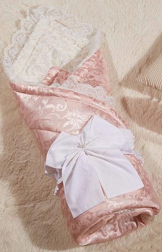 Одеяло-конверт Бамбини Кружево (пудра)