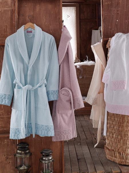 Трикотажный женский халат VS White
