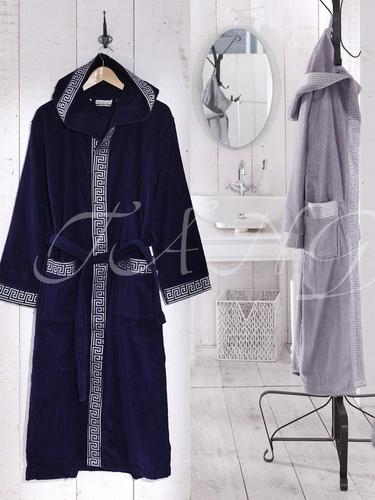 Мужской махровый халат VS Grey