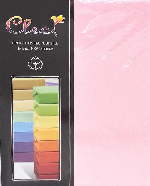 Простыня на резинке Cleo Pink 90х200 см