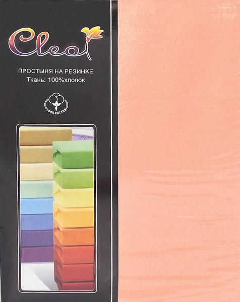 Простыня на резинке Cleo Peach 200х200 см