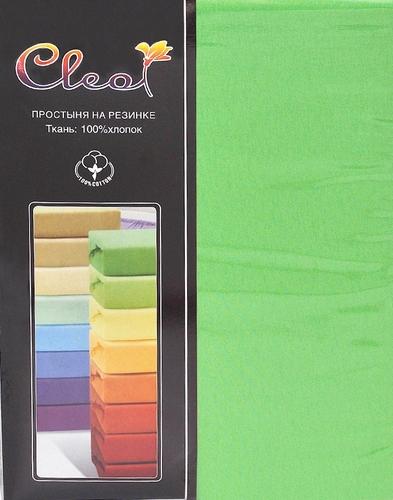 Простыня на резинке Cleo Green 90х200 см