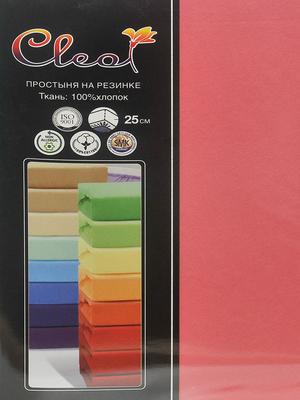 Простыня на резинке Cleo Coral 90х200 см