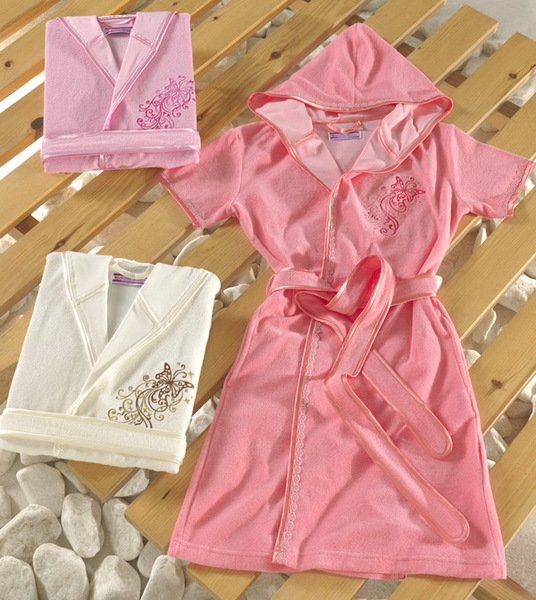 Женский халат с капюшоном VS Pink
