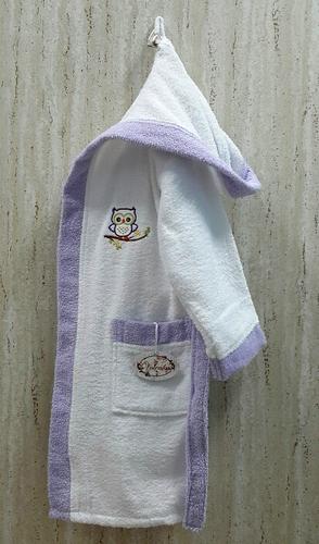 Детский банный халат Volenka Совёнок Lilac 6-8 лет