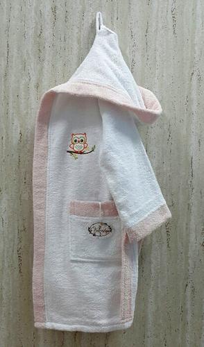 Детский банный халат Volenka Совёнок Pink 10-12 лет