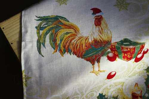 Новогоднее полотенце Год Петуха 50х70 см