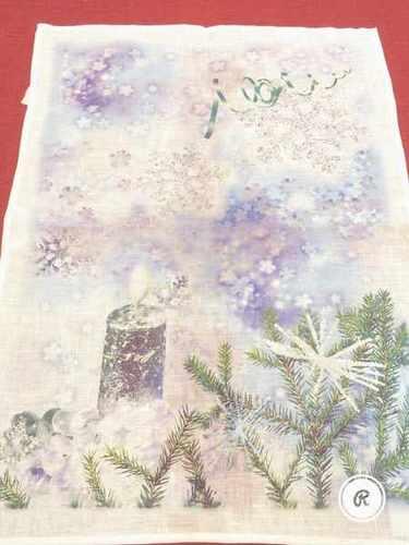 Новогоднее полотенце Свеча 50х70 см