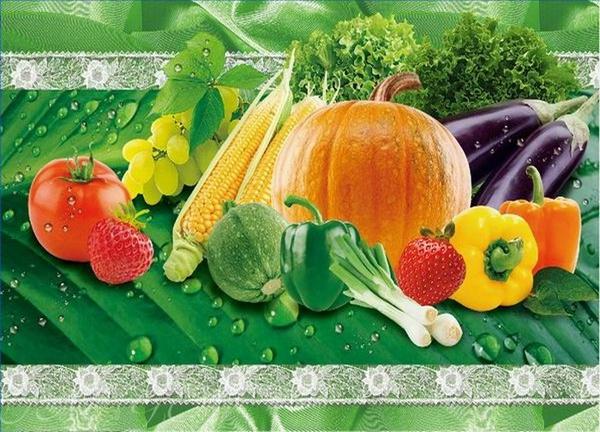 Набор салфеток с подстаканниками Tango Vegetables V5