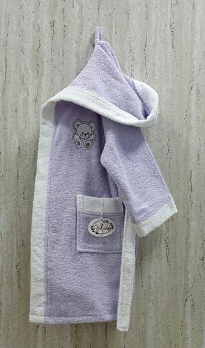Детский банный халат Volenka Мишка Lilac 6-8 лет