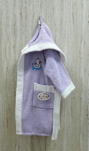 Детский банный халат Volenka Утёнок Lilac 2-4 года