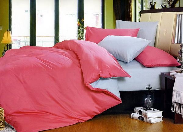 Постельное белье Duo Pink/Grey