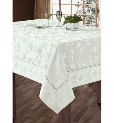 Белая скатерть SL 150х180 с салфетками 40х40 5 предметов